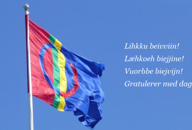 Samisk flagg med hilsen